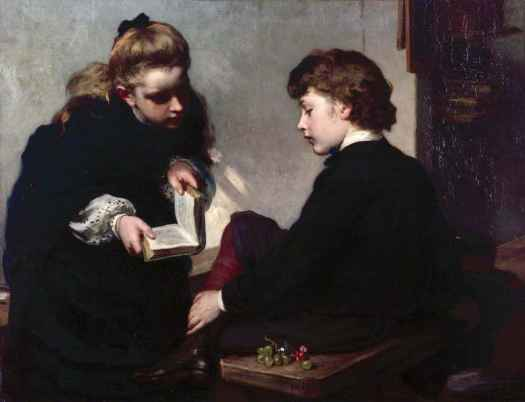 The Schoolmaster's Daughter by James Sant