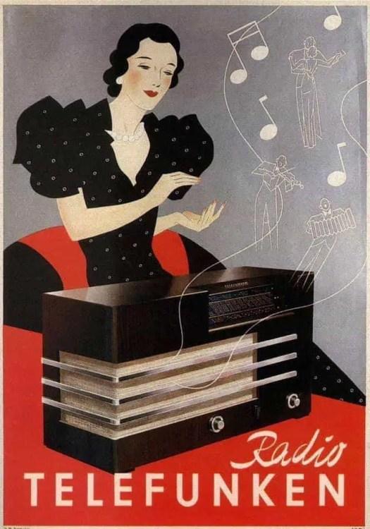 1935 Radio Telefunken advertisement