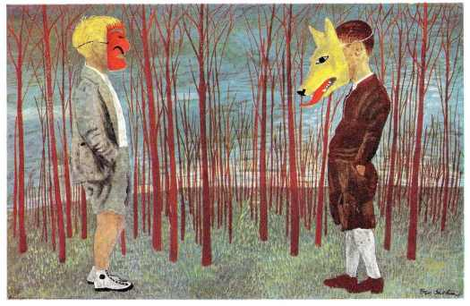 Ben Shahn, Illustration for Peter and the Wolf, 1943