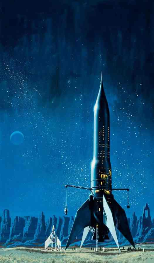 Dean Ellis (1920 - 2009) 1971 book cover for Star Born by Andre Norton