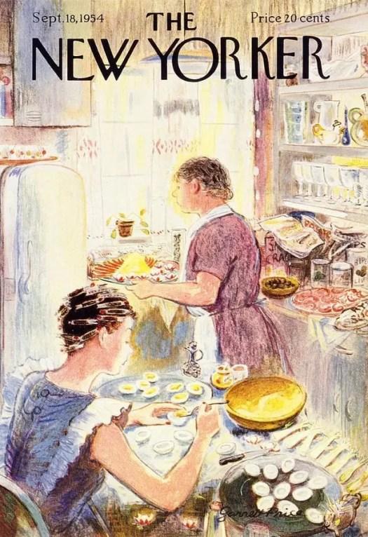 Garrett Price (1896-1979) 1954 kitchen curried egg