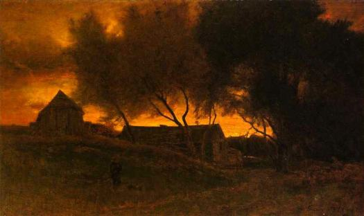 George Inness - The Gloaming