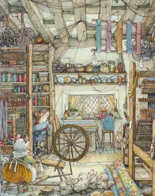 Jill Barklem (English, 1951-2017) - Boscodirovo ceiling