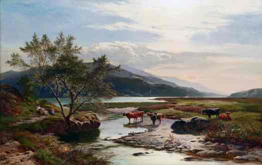 Sidney Richard Percy - On the Mawddach Marshes, North Wales 1877
