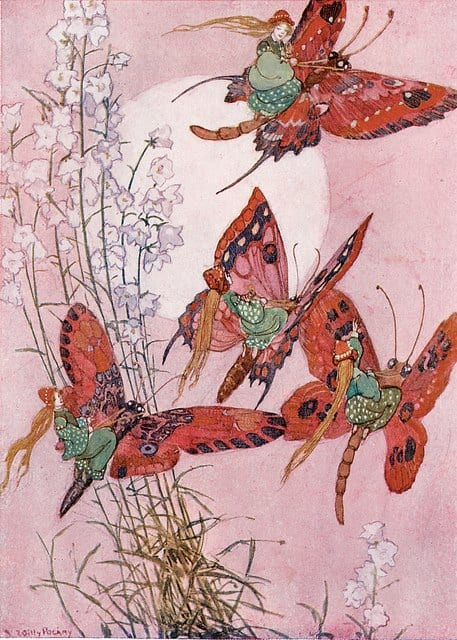 Willy Pogany riding butterflies