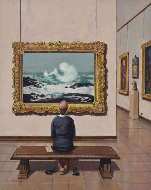 Art Lover (Tired Museum Feet), Stevan Dohanos, 1956