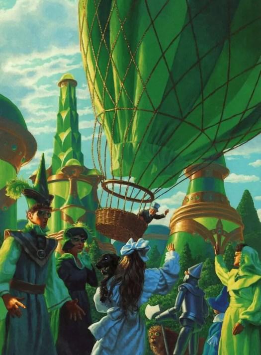 Greg Hildebrandt (born 1939) 1980s illustration for The Wonderful Wizard of Oz by L. Frank Baum green