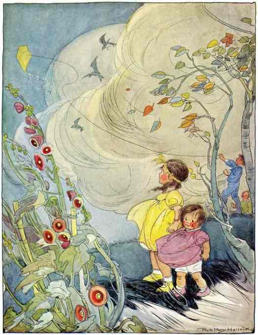 Ruth Mary Hallock (American, 1876-1945) The Wind from A Child's Garden of Verses 1919