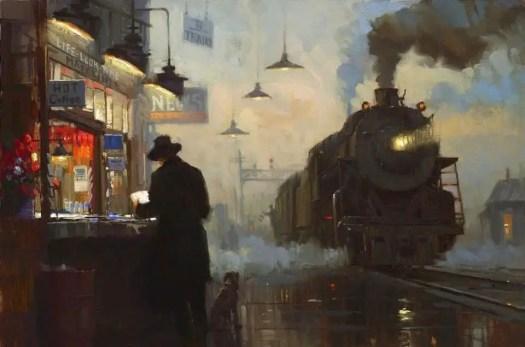 'Homeward Bound' by David Tutwiler American painter from Chicago