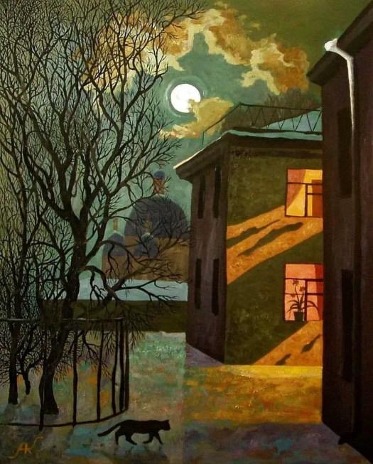 Alexey Kofanov, 'Cat at Night'