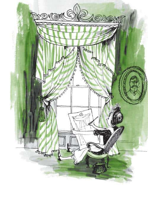 Amelia Bedelia draws the drapes. Peggy Parish's first Amelia Bedelia picture book came out in 1963. Fritz Siebel created the illustrations