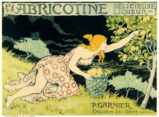 EUGENE GRASSET (1841-1917), ABRICOTINE LIQUER POSTER, ca 1905