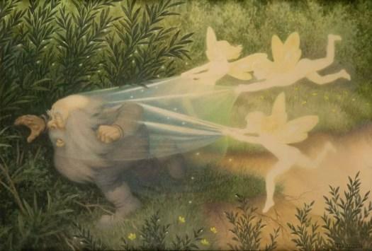 Elves catching the Shadow Goblin 1908 Theodor Kittelsen