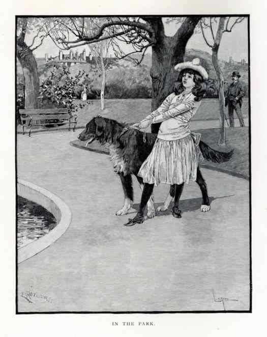 Fernand Lungren (1857–1932) In the Park, frontispiece for the August 1888 issue of St. Nicholas magazine