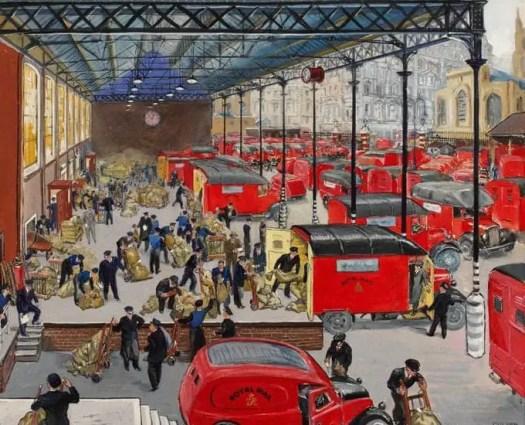 Grace Golden (1904-1993) lorry station