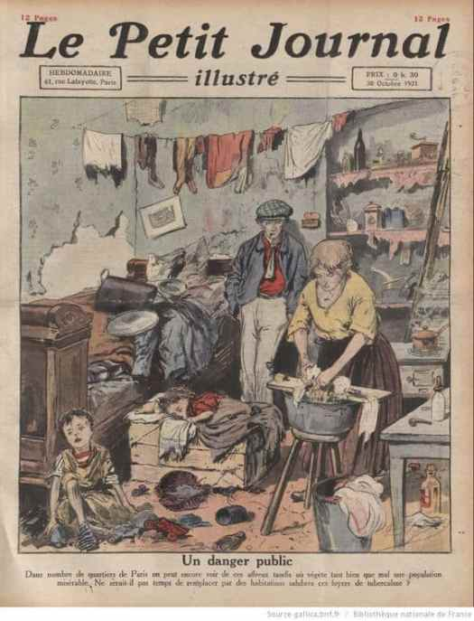 Le Petit diary illustrated, October 30, 1921, unknown illustrator tuberculosis pandemic