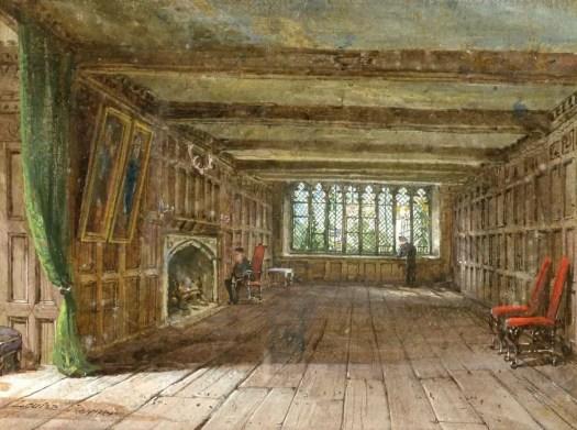 Louise Rayner - Interior at Haddon Hall