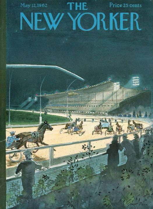 New Yorker cover horse racing by Garrett Price