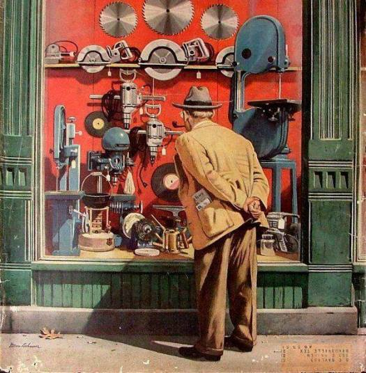 Power Tool Window Shopping, Stevan Dohanos (1907-1994) 1951