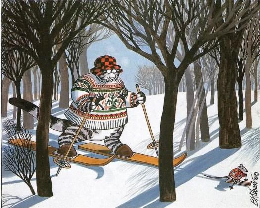 Bernard. Kliban (1935 - 1990, USA)  - Ski-cat