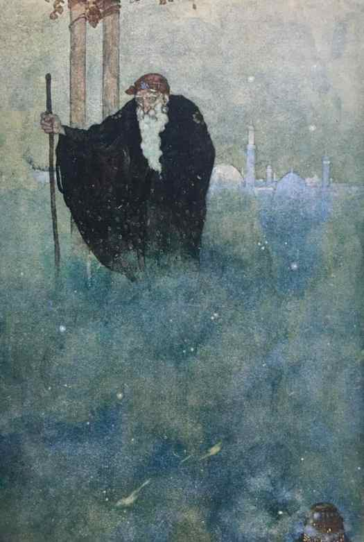 Dulac for The Arabian Nights There appeared before him an old man of venerable appearance
