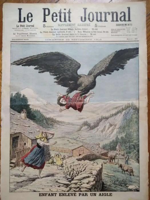 Eartly 19th century enfant enleve par un aigle child carried by eagle