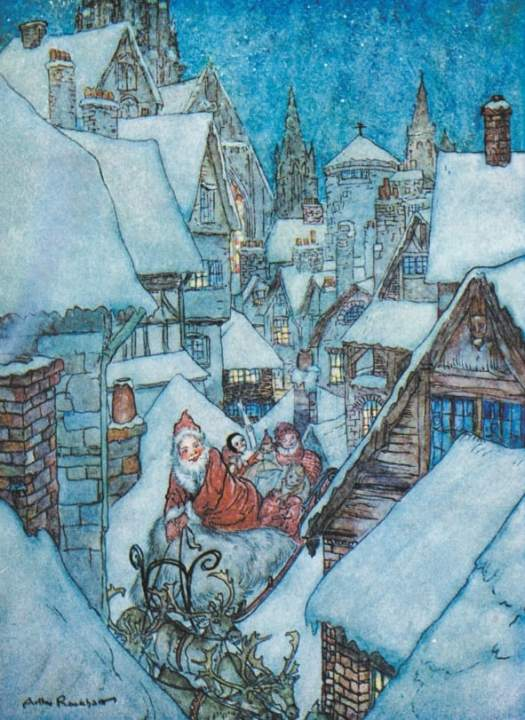 From 'The Night Before Christmas' by Arthur Rackham (1867-1939)