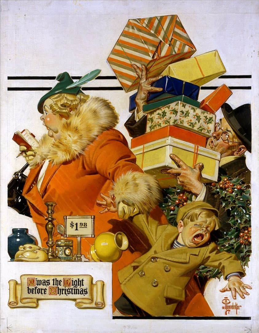 J.C. LEYENDECKER (1874-1951)TWAS THE NIGHT BEFORE CHRISTMAS 1936