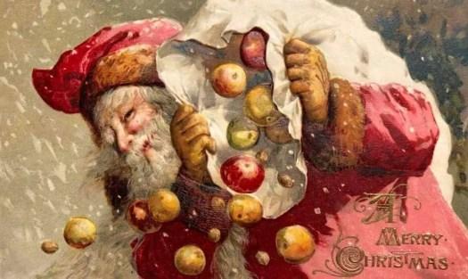 John Winsch 1913 Santa with a sack of apples