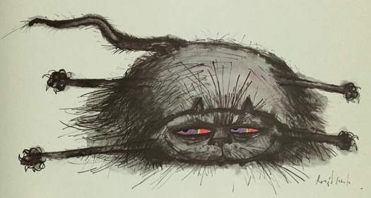Ronald Searle's Cats, 1967 Cat of a thousand disguises concealing itself as a rug