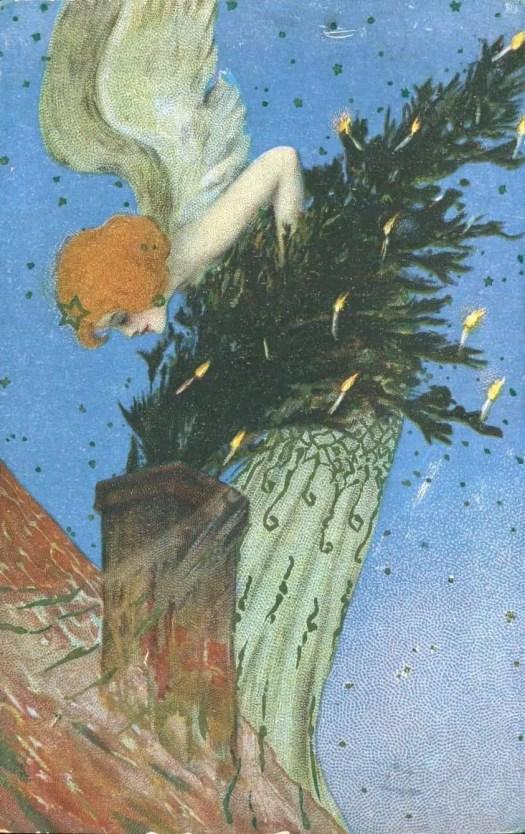 The Christmas Tree Angel by Raphael Kirchner (Austrian, 1876-1917)
