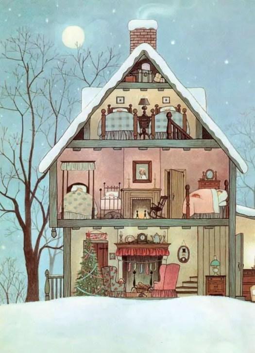 The Night Before Christmas, 1961 Gyo Fujikawa; 1908-1998 cutaway