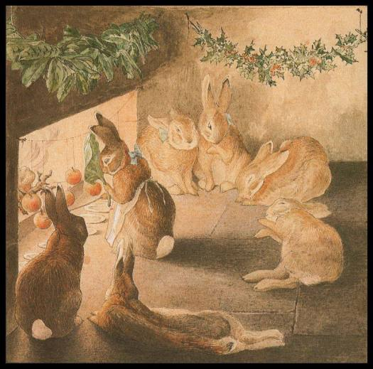 The Rabbits' Christmas Party - 'Roasting Apples', by Beatrix Potter