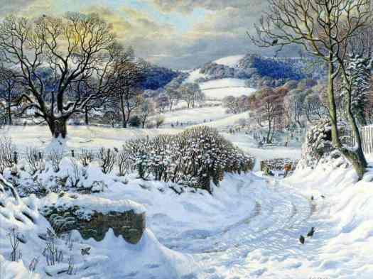 Winter landscape by Stanley Roy Badwin (1906 - 1989)