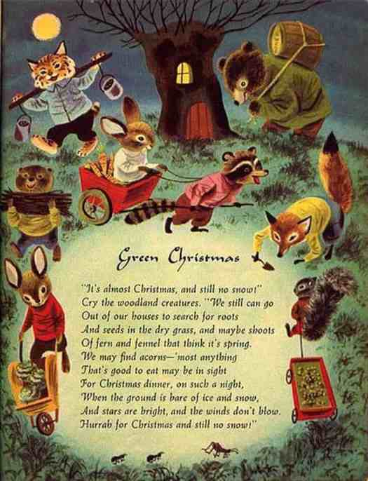 1950, Little Golden Book, Richard Scarry, The Animals Merry Christmas tree house