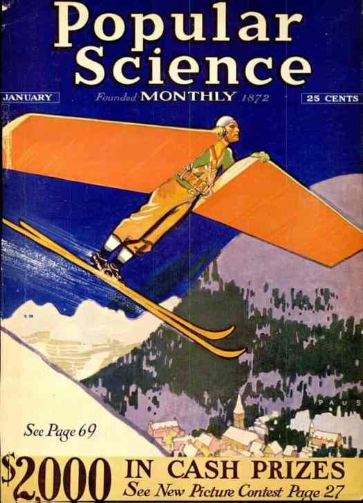 Art by Herbert Paus 1931 skiing