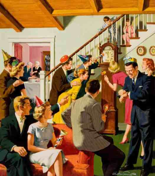 Arthur Sarnoff New Year party