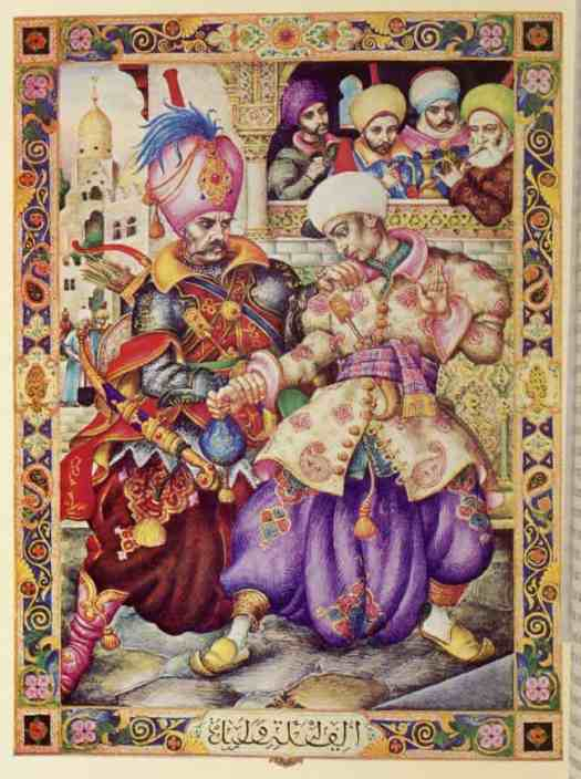 Arthur Szyk was commissioned to do 100 paintings for the Arabian Nights in 1946, but had managed 60 by time of his death in 1951