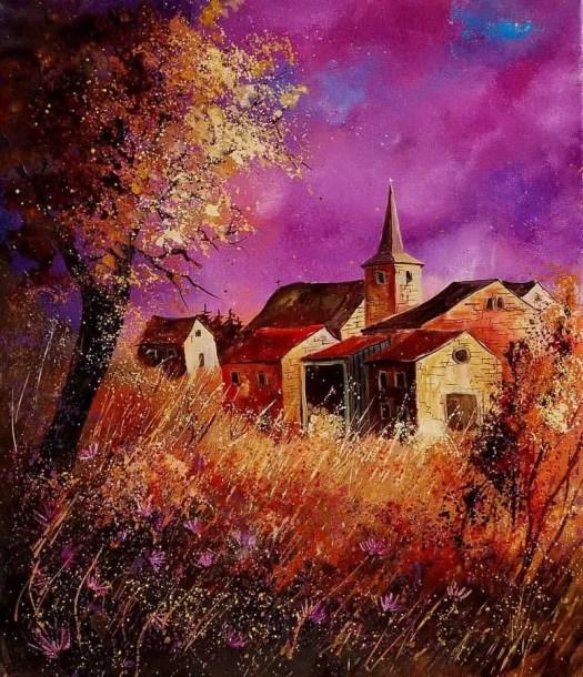 Belgian artist  Pol Ledent 'Magic Autumn'