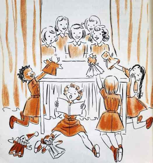 Brownie Scout Handbook, Girl Scouts of the United States of America, illustrated by Ruth Wood, 1954