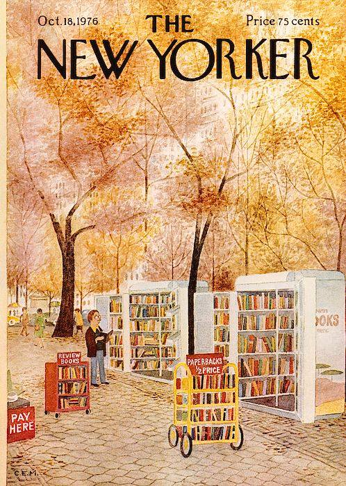 Charles E. Martin, New Yorker cover illustration, 1976