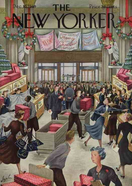 Constantin Alajalov (1900-1987) Christmas shopping 1949