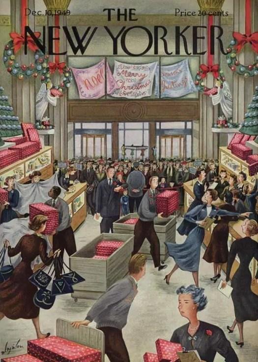 Constantin Alajalov (1900-1987) Christmas shopping 1949
