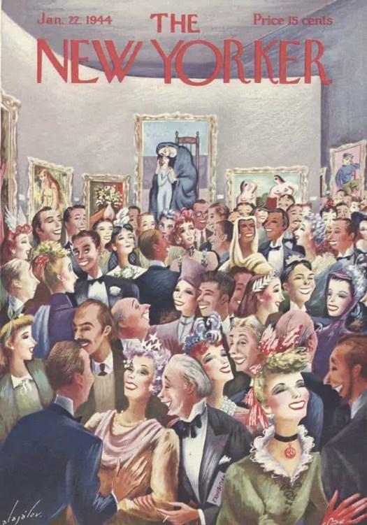 Constantin Alajalov (1900-1987) gallery crowd