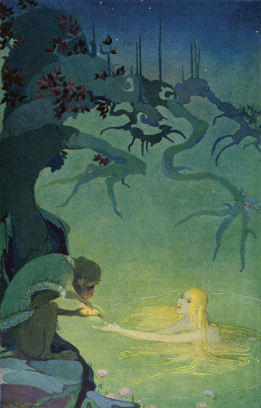 Dorothy P Lathrop from the book The Three Mulla-Mulgars, Oh but if I might but hold it in my hand one moment