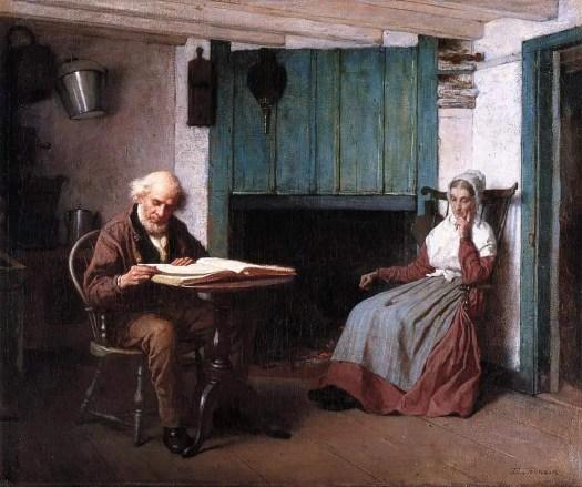 Eastman Johnson - Thy Word is a Lamp unto My Feet and a Light unto My Path hearth