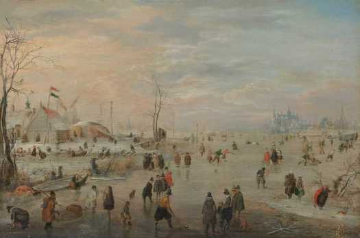 Enjoying the Ice, Hendrick Avercamp, c. 1615 - c. 1620