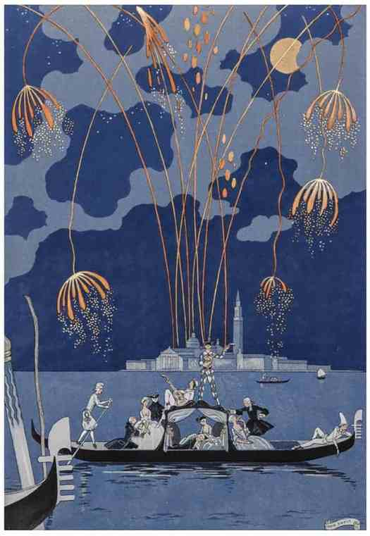 George Barbier Fireworks in Venice