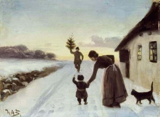 Hans Andersen Brendekilde (7 April 1857 – 30 March 1942) The Arrival Of The Christmas Tree (Danish)