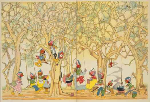 Illustration by Kawakami Shiro ( 川上四郎 絵) forKodomo no kuni (Children's Land), c1920s and 30s sewing